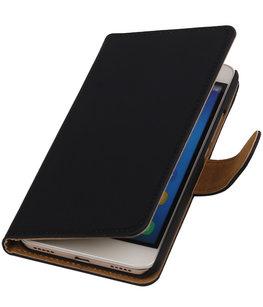 Hoesje voor Huawei Honor Y6 / 4A - Effen Booktype Wallet Zwart
