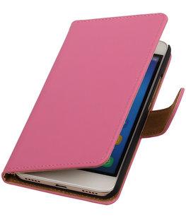 Hoesje voor Huawei Honor Y6 - Effen Booktype Wallet Roze
