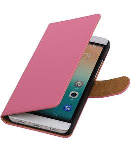 Hoesje voor Huawei Honor 7i - Effen Booktype Wallet Roze