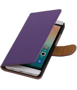 Hoesje voor Huawei Honor 7i - Effen Booktype Wallet Paars