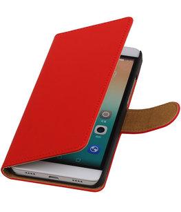 Hoesje voor Huawei Honor 7i - Effen Booktype Wallet Rood