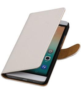 Hoesje voor Huawei Honor 7i - Effen Booktype Wallet Wit