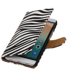 Hoesje voor Huawei Honor 7i - Zebra Booktype Wallet