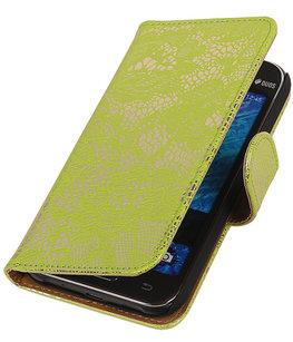Hoesje voor Samsung Galaxy J2 2015 - Groen Lace Booktype Wallet