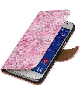 Hoesje voor Samsung Galaxy J2 2015 - Roze Booktype Wallet Mini Slang