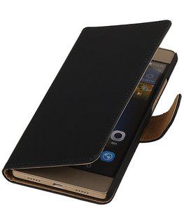 Hoesje voor Huawei G8 - Effen Booktype Wallet Zwart