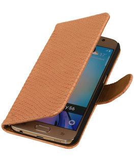 Hoesje voor Samsung Galaxy J2 2015 - Slang Roze Bookstyle Wallet