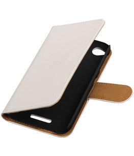 Hoesje voor HTC Desire 320 Effen Booktype Wallet Wit