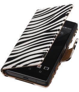 Hoesje voor Sony Xperia Z5 Compact - Zebra Booktype Wallet