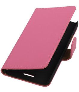 Hoesje voor HTC One M8 - Effen Roze Booktype Wallet