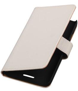 Hoesje voor HTC One SV - Effen Wit Booktype Wallet