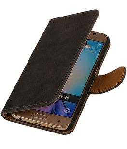 Hoesje voor Samsung Galaxy Note 4 - Hout Grijs Booktype Wallet