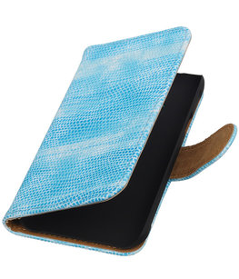 Hoesje voor Samsung Galaxy J1 Ace - Mini Slang Turquoise Booktype Wallet