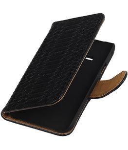 Hoesje voor Samsung Galaxy J1 Ace - Slang Zwart Booktype Wallet
