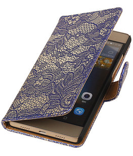 Hoesje voor Sony Xperia Z5 Compact - Lace Blauw Booktype Wallet