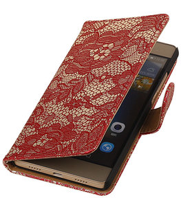 Hoesje voor Sony Xperia Z5 Compact - Lace Rood Booktype Wallet