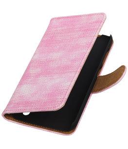 Hoesje voor Sony Xperia Z5 Compact - Mini Slang Roze Booktype Wallet