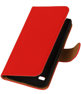 Rood Hoesje voor Huawei Ascend Y550 Book/Wallet Case/Cover