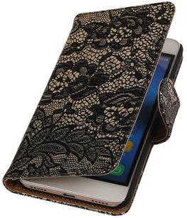 Hoesje voor Huawei Honor Y6 / 4A - Lace Zwart Booktype Wallet