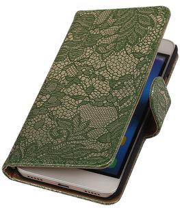 Hoesje voor Huawei Honor Y6 - Lace Donker Groen Booktype Wallet