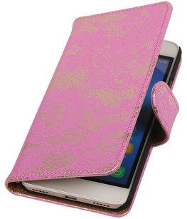 Hoesje voor Huawei Honor Y6 - Lace Roze Booktype Wallet