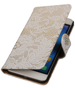 Hoesje voor Huawei Honor Y6 - Lace Wit Booktype Wallet