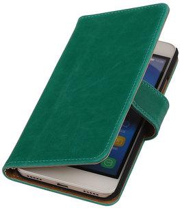 Groen Pull-Up PU Hoesje voor Huawei Honor Y6 / 4A Booktype Wallet Cover