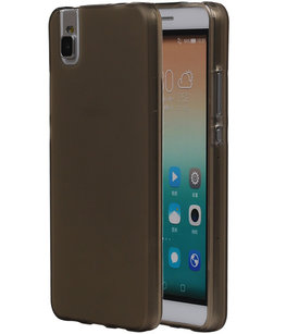 Hoesje voor Huawei Honor 7i TPU Transparant Grijs