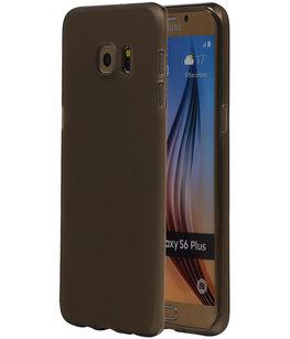 Hoesje voor Samsung Galaxy S6 Edge Plus TPU Transparant Grijs