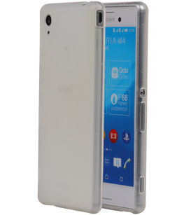 Hoesje voor Sony Xperia M4 Aqua TPU Transparant Wit