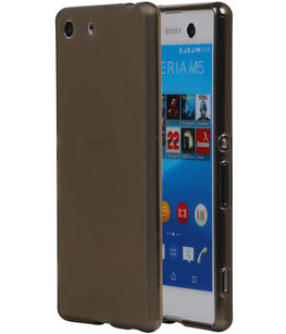 Hoesje voor Sony Xperia M5 TPU Transparant Grijs