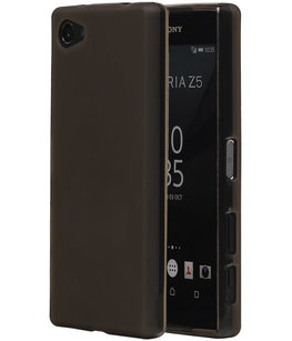 Hoesje voor Sony Xperia Z5 Compact TPU Transparant Grijs