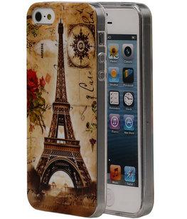 Eiffeltoren TPU Cover Case voor Hoesje voor Apple iPhone 5/5S