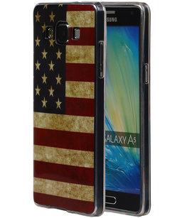 Amerikaanse Vlag TPU Cover Case voor Hoesje voor Samsung Galaxy A5 2015