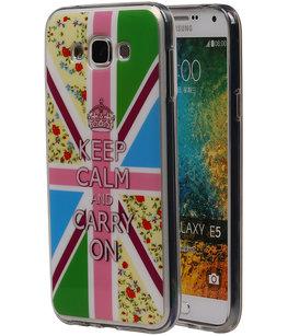 Keizerskroon TPU Cover Case voor Hoesje voor Samsung Galaxy E5
