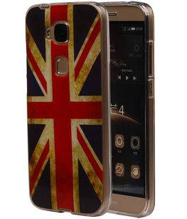 Britse Vlag TPU Cover Case voor Hoesje voor Huawei G8
