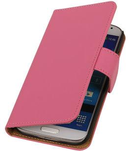 Effen Roze Samsung Galaxy S3 Hoesjes Book/Wallet Case/Cover