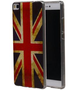 Britse Vlag TPU Cover Case voor Hoesje voor Huawei P8