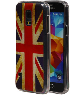 Britse Vlag TPU Cover Case voor Hoesje voor Samsung Galaxy S5 Mini