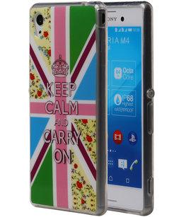 Keizerskroon TPU Cover Case voor Hoesje voor Sony Xperia M4 Aqua