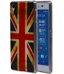 Britse Vlag TPU Cover Case voor Hoesje voor Sony Xperia Z4