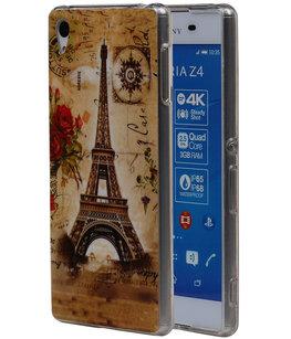 Eiffeltoren TPU Cover Case voor Hoesje voor Sony Xperia Z4