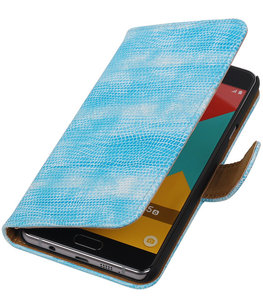 Turquoise Mini Slang Booktype Hoesje voor Samsung Galaxy A5 2016 Wallet Cover