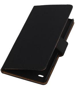 Hoesje voor Sony Xperia C4 Booktype Zwart