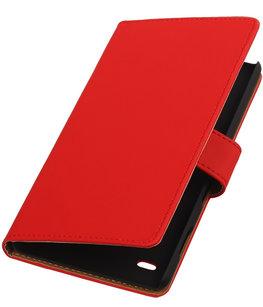 Hoesje voor Sony Xperia C4 Booktype Rood