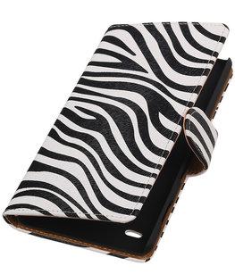 Hoesje voor Sony Xperia C4 Booktype Zebra