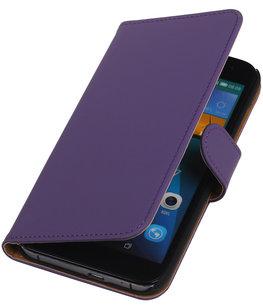 Hoesje voor Huawei Ascend G7 Effen Booktype Wallet Paars
