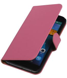Hoesje voor Huawei Ascend G7 Effen Booktype Wallet Roze