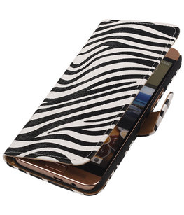 Hoesje voor HTC One SV - Zebra Booktype Wallet