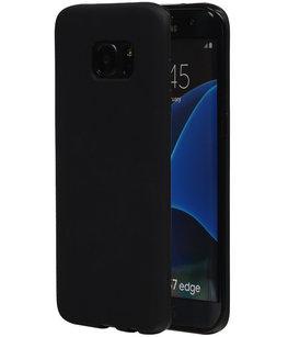 Hoesje voor Samsung Galaxy S7 Edge TPU Back Cover Zwart